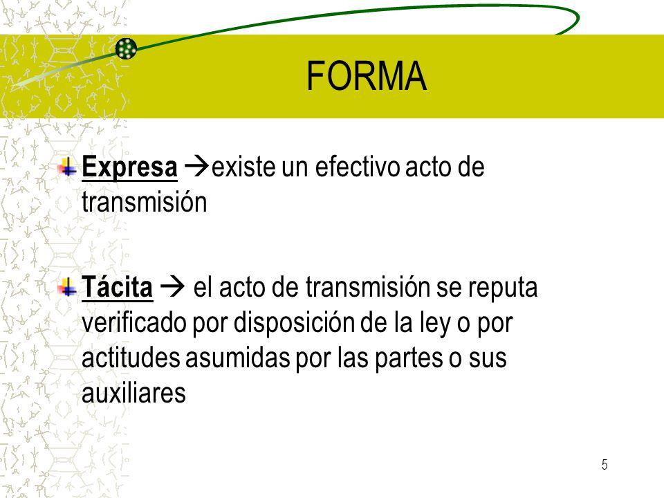 FORMA Expresa existe un efectivo acto de transmisión