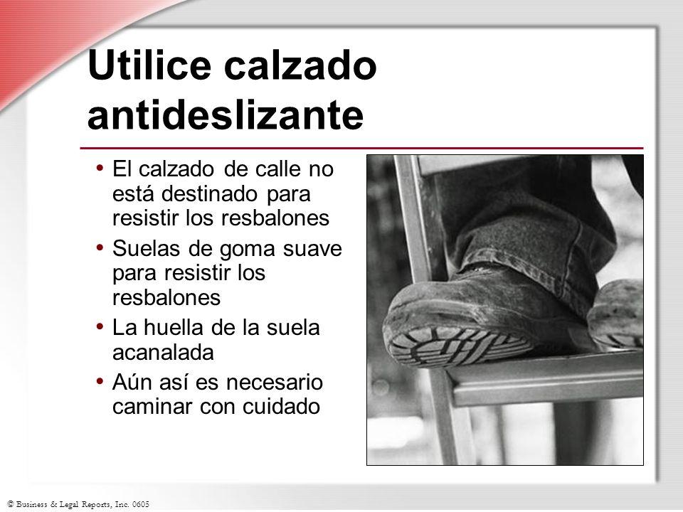 Utilice calzado antideslizante