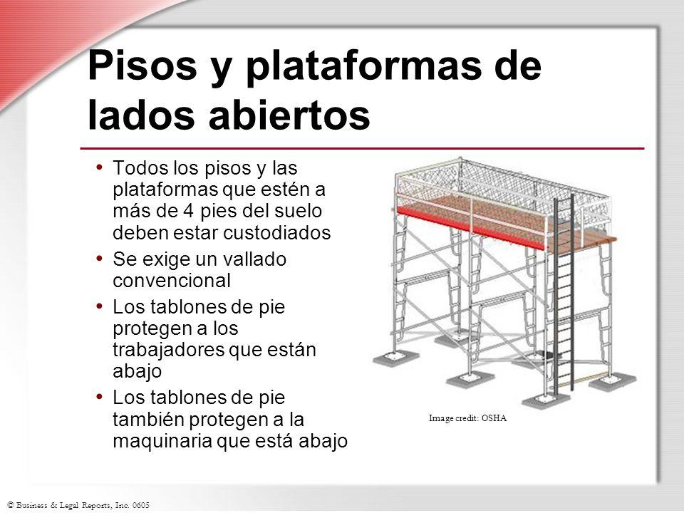 Pisos y plataformas de lados abiertos