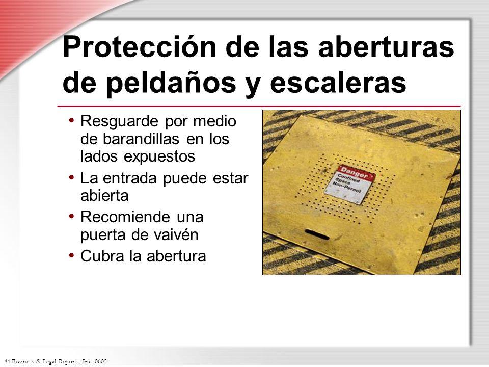 Protección de las aberturas de peldaños y escaleras
