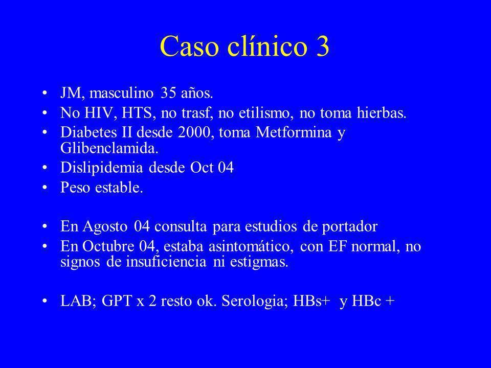 Caso clínico 3 JM, masculino 35 años.
