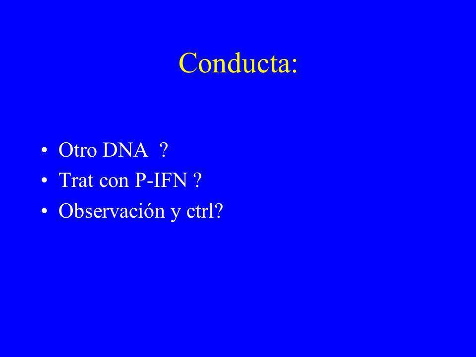 Conducta: Otro DNA Trat con P-IFN Observación y ctrl