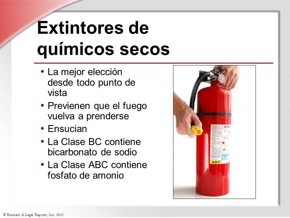 Extintores de químicos secos