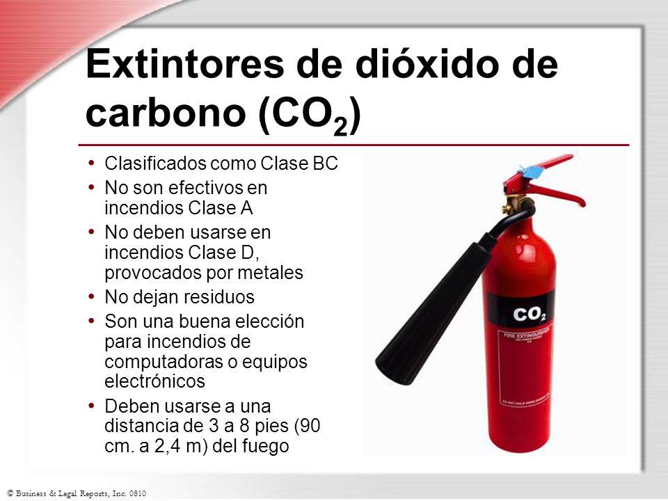 Extintores de dióxido de carbono (CO2)