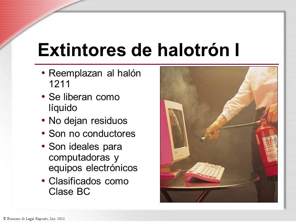 Extintores de halotrón I