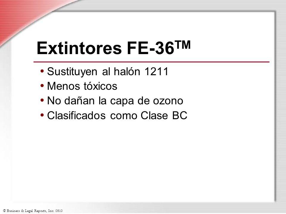 Extintores FE-36TM Sustituyen al halón 1211 Menos tóxicos