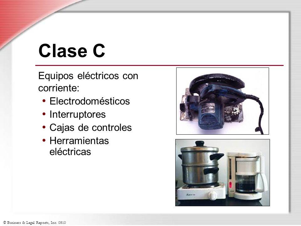 Clase C Equipos eléctricos con corriente: Electrodomésticos