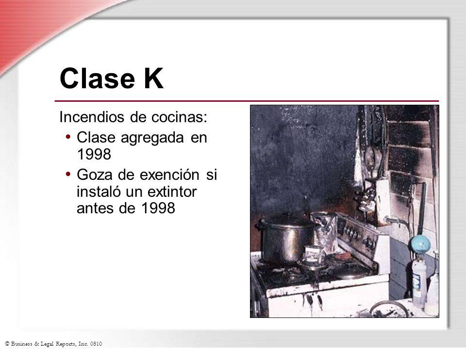 Clase K Incendios de cocinas: Clase agregada en 1998