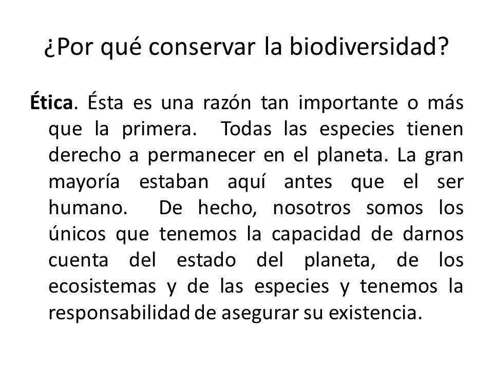 ¿Por qué conservar la biodiversidad
