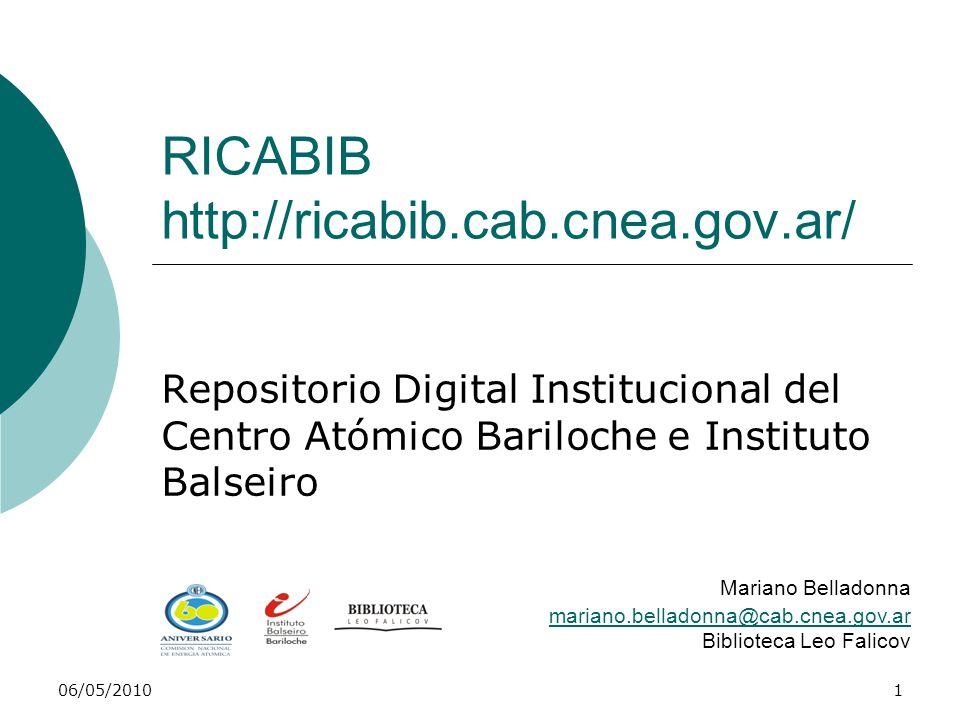 RICABIB http://ricabib.cab.cnea.gov.ar/