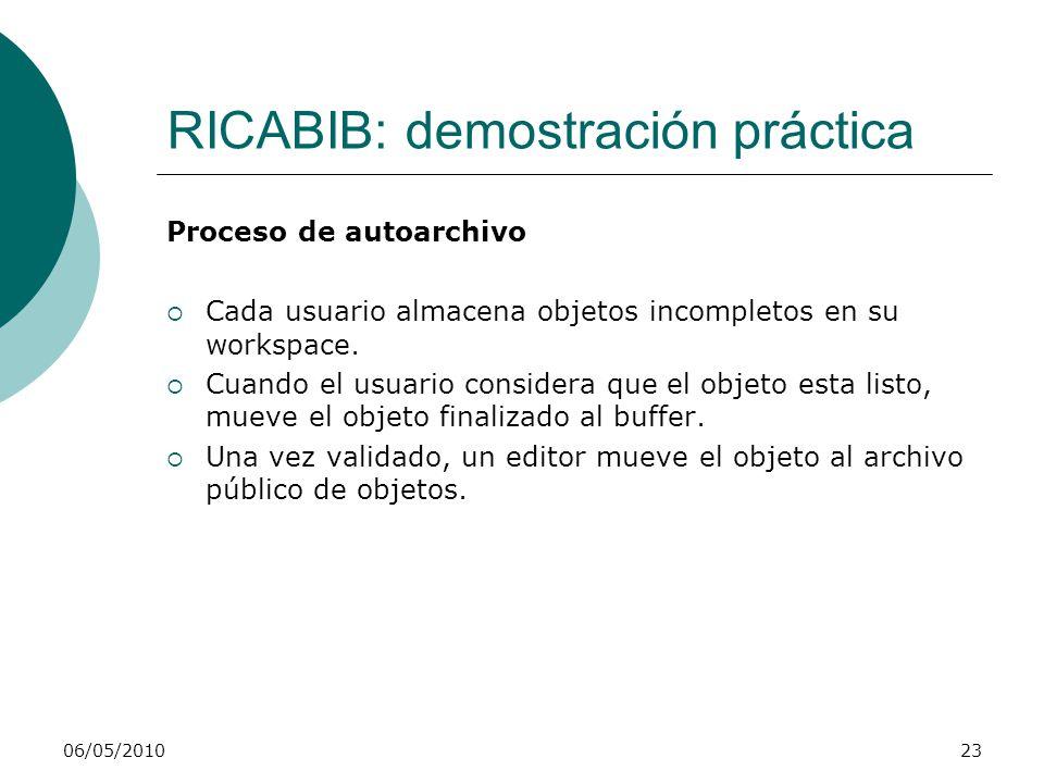 RICABIB: demostración práctica