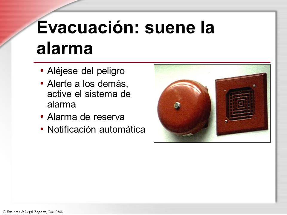 Evacuación: suene la alarma