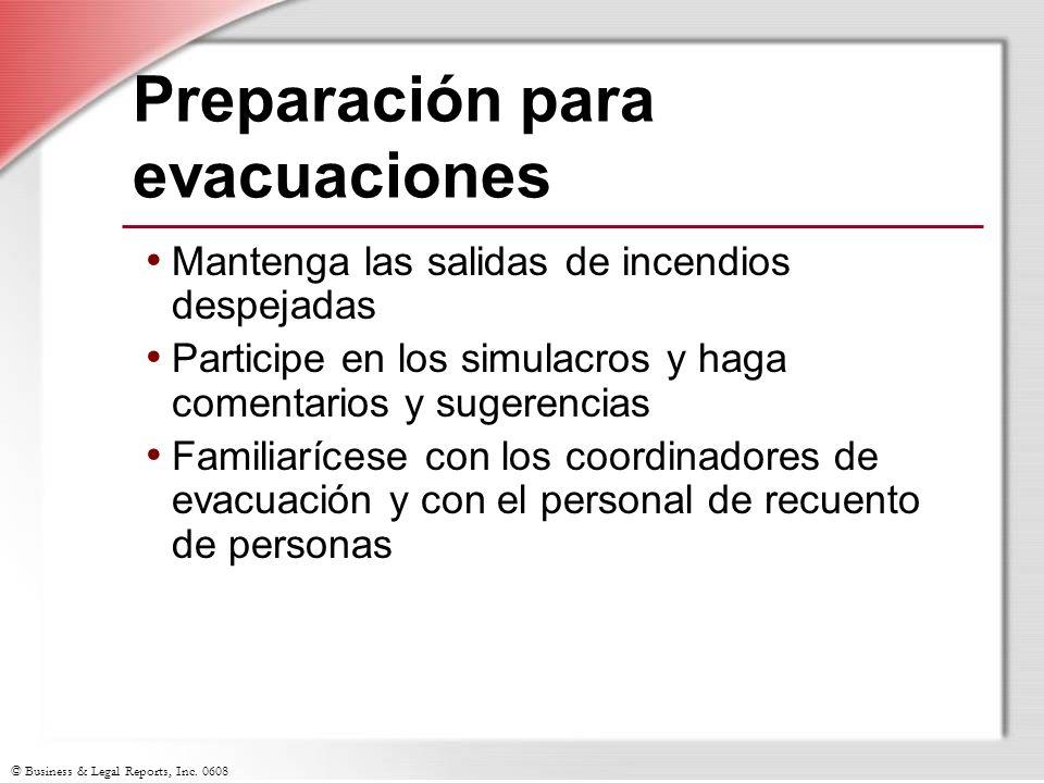 Preparación para evacuaciones