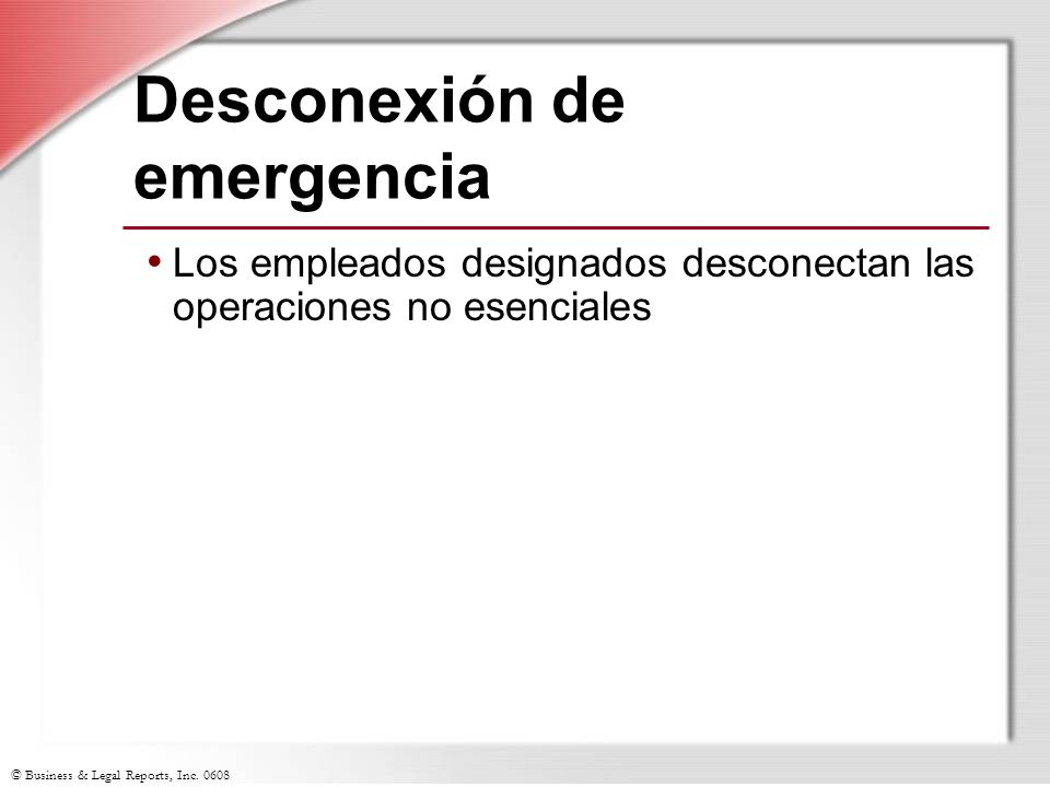 Desconexión de emergencia