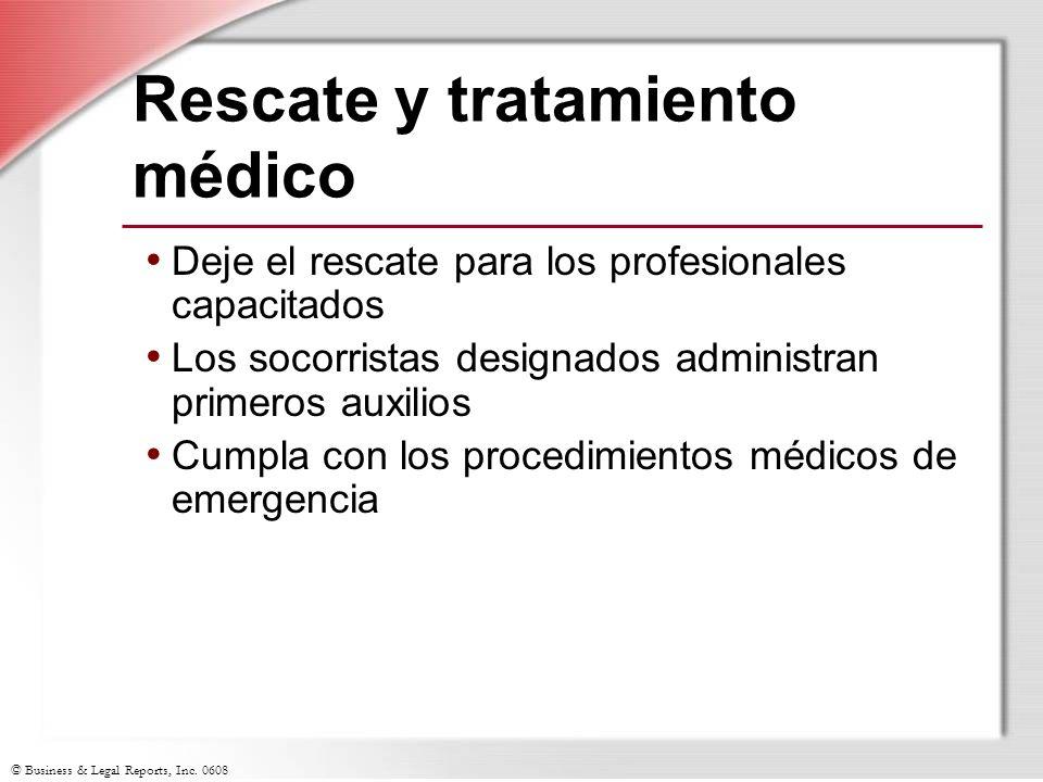 Rescate y tratamiento médico