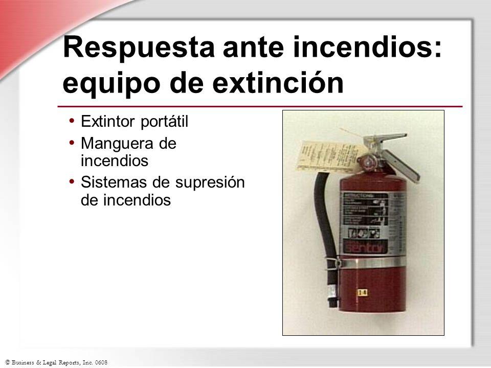 Respuesta ante incendios: equipo de extinción