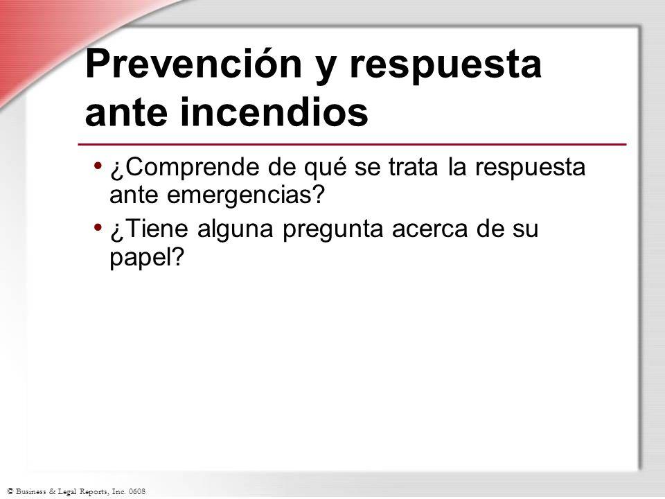Prevención y respuesta ante incendios