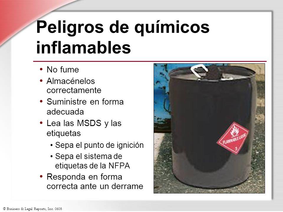 Peligros de químicos inflamables