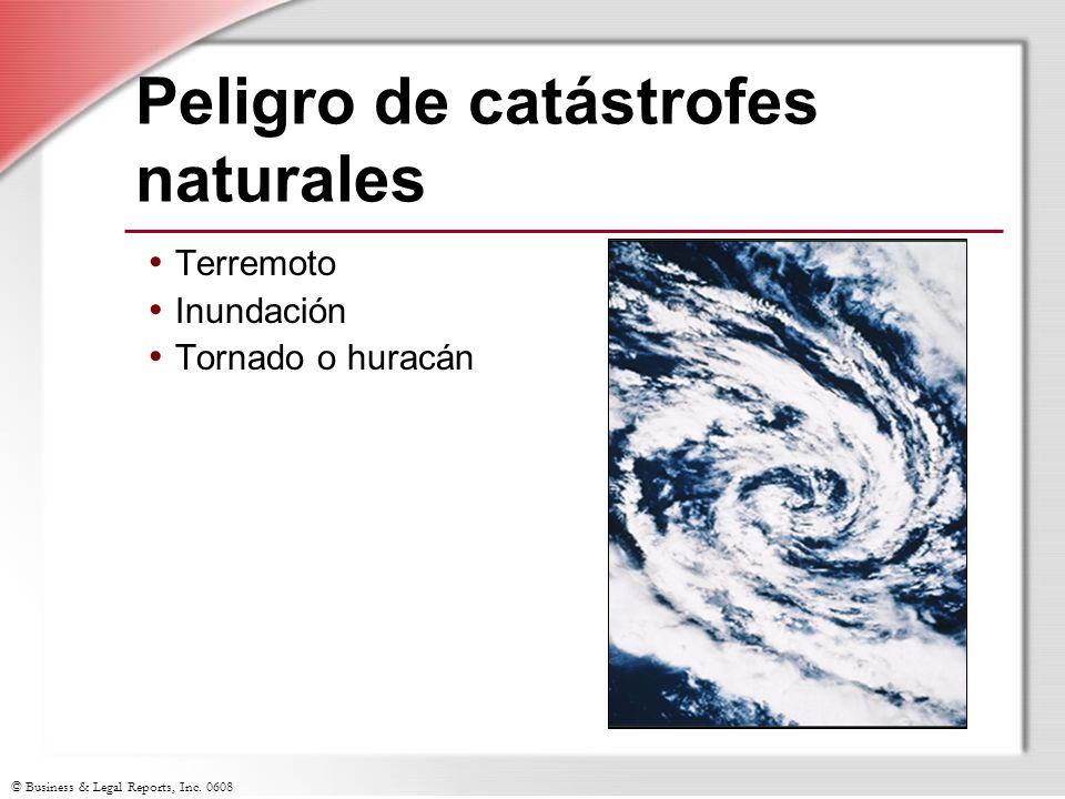 Peligro de catástrofes naturales