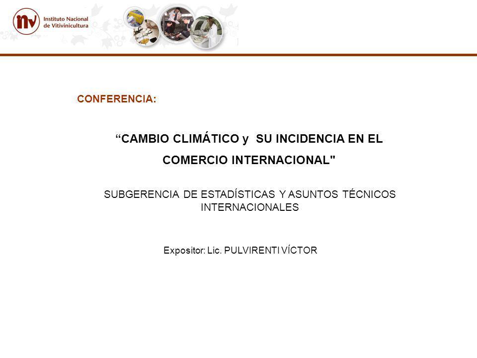 CAMBIO CLIMÁTICO y SU INCIDENCIA EN EL