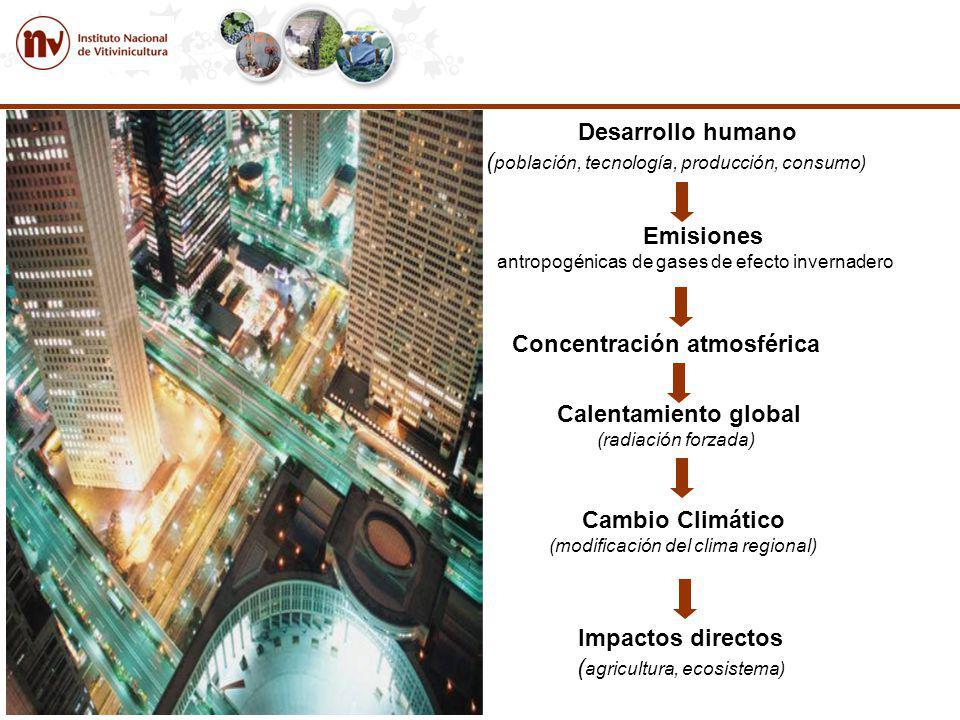 (población, tecnología, producción, consumo)