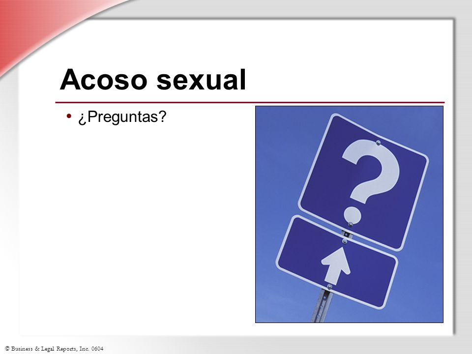 Acoso sexual ¿Preguntas Slide Show Notes