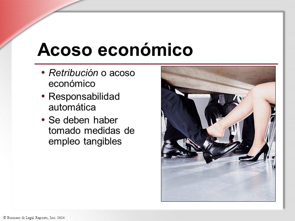 Acoso económico Retribución o acoso económico