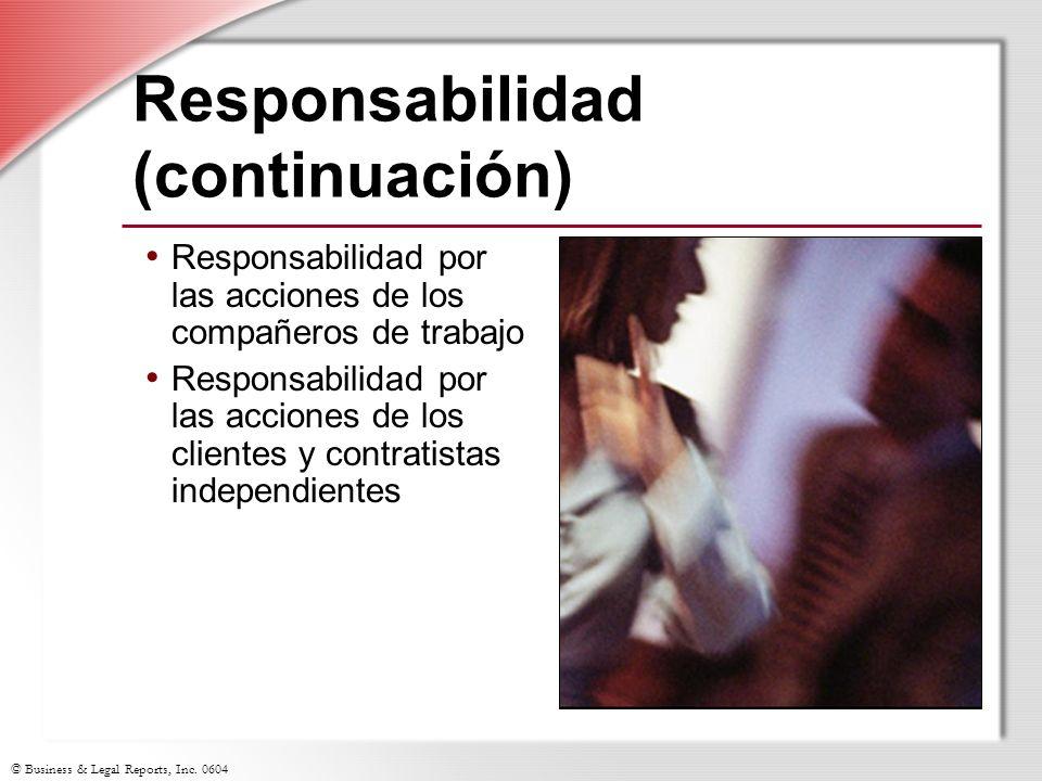 Responsabilidad (continuación)