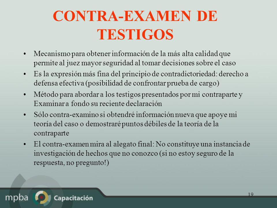 CONTRA-EXAMEN DE TESTIGOS