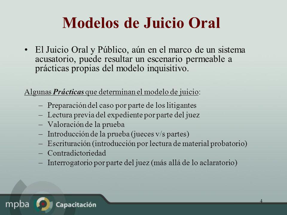 Modelos de Juicio Oral