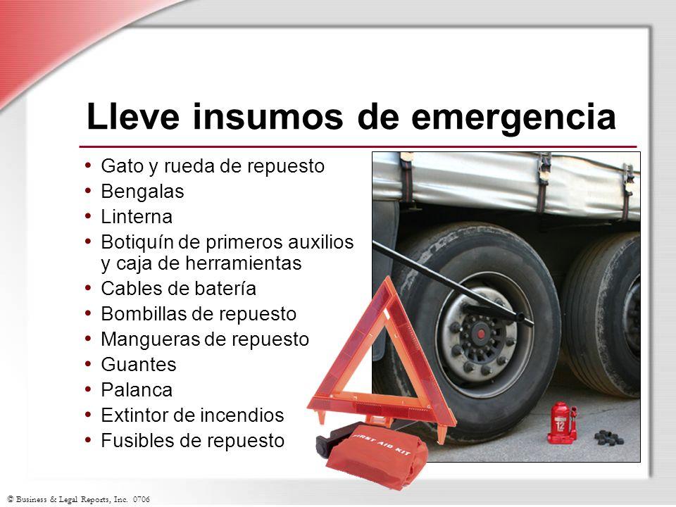Lleve insumos de emergencia