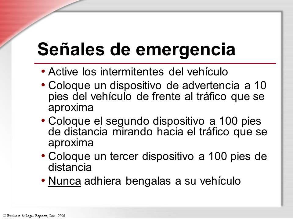 Señales de emergencia Active los intermitentes del vehículo