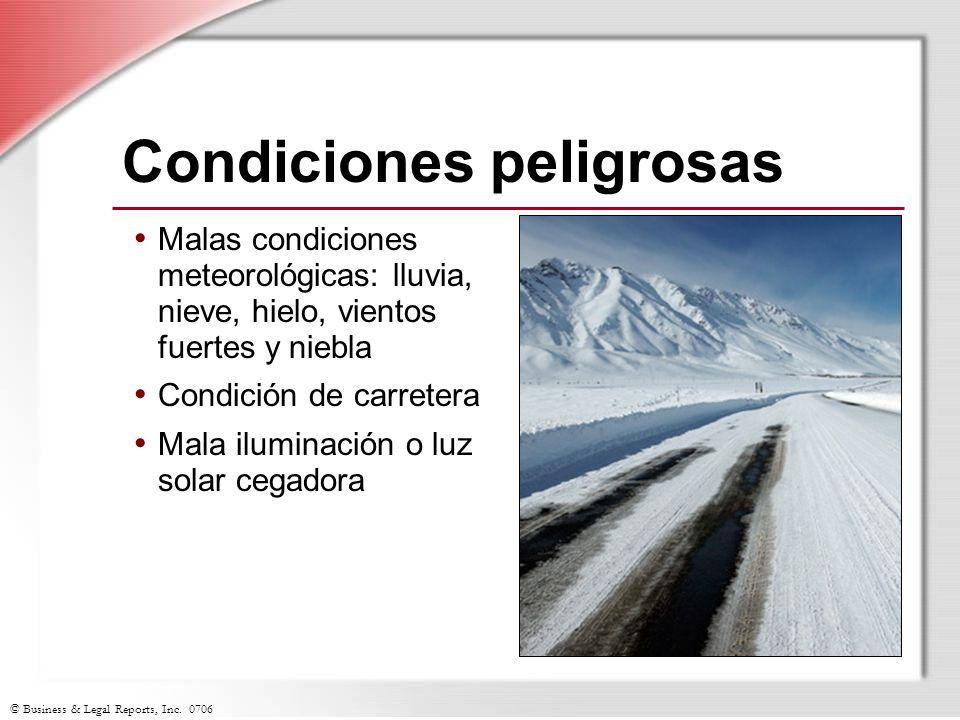 Condiciones peligrosas