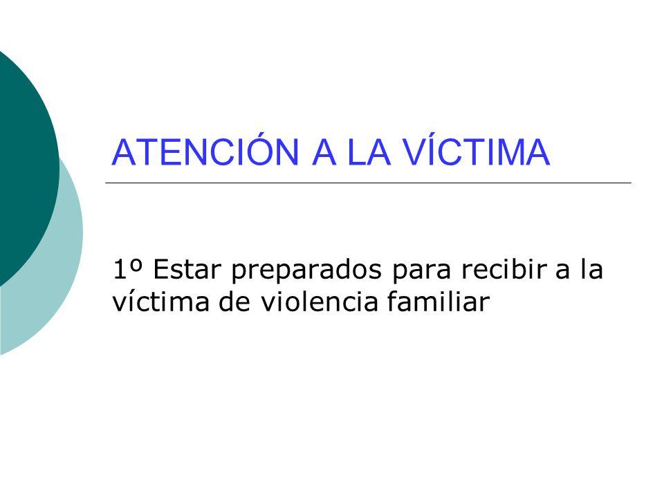 1º Estar preparados para recibir a la víctima de violencia familiar