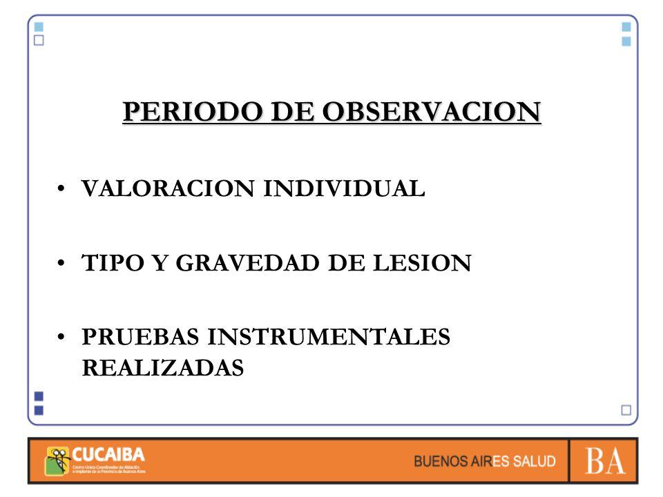 PERIODO DE OBSERVACION