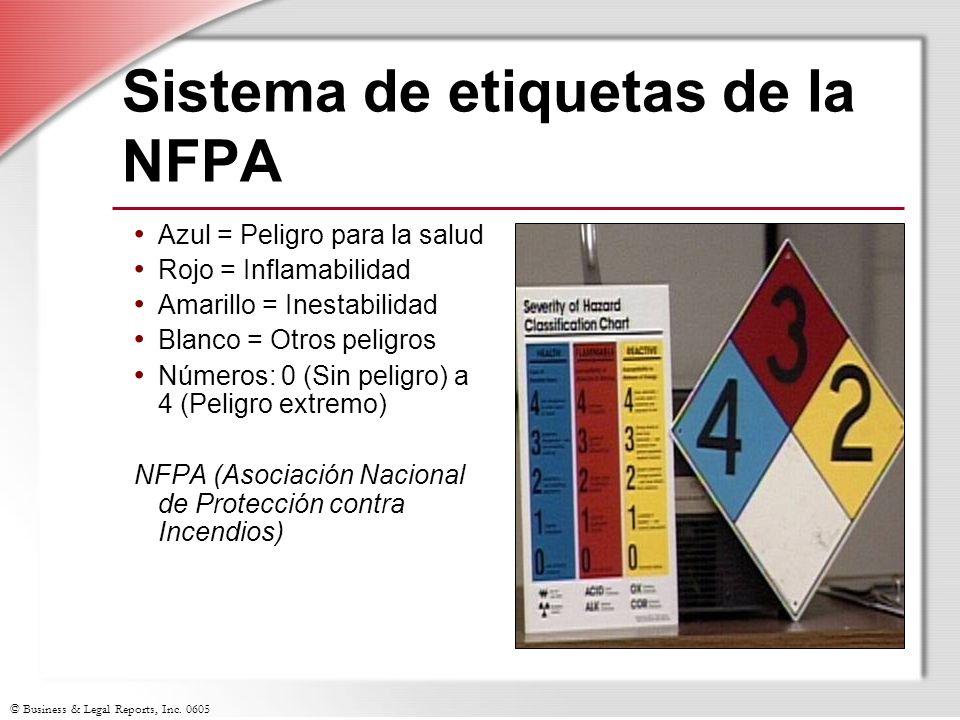 Sistema de etiquetas de la NFPA