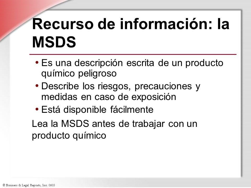 Recurso de información: la MSDS