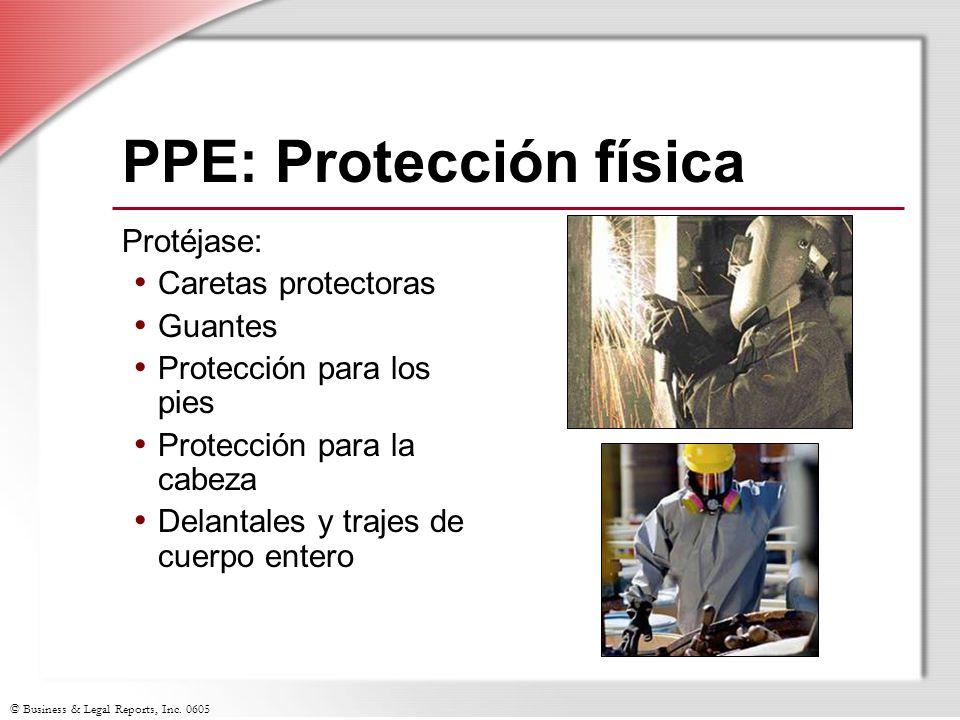 PPE: Protección física
