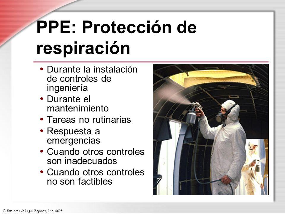 PPE: Protección de respiración