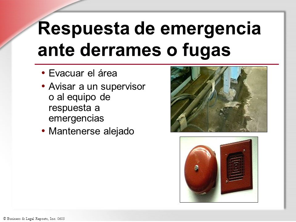 Respuesta de emergencia ante derrames o fugas