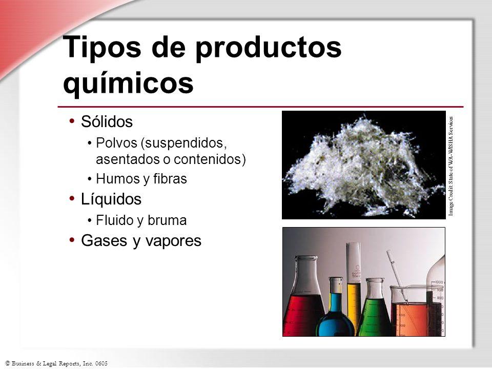 Tipos de productos químicos