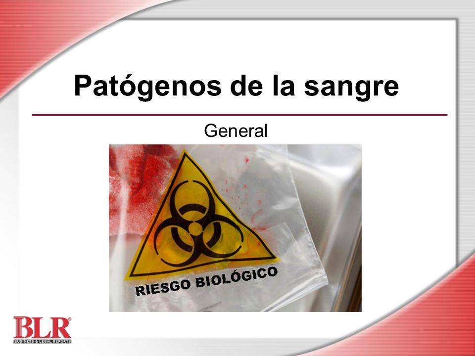 Patógenos de la sangre General Slide Show Notes