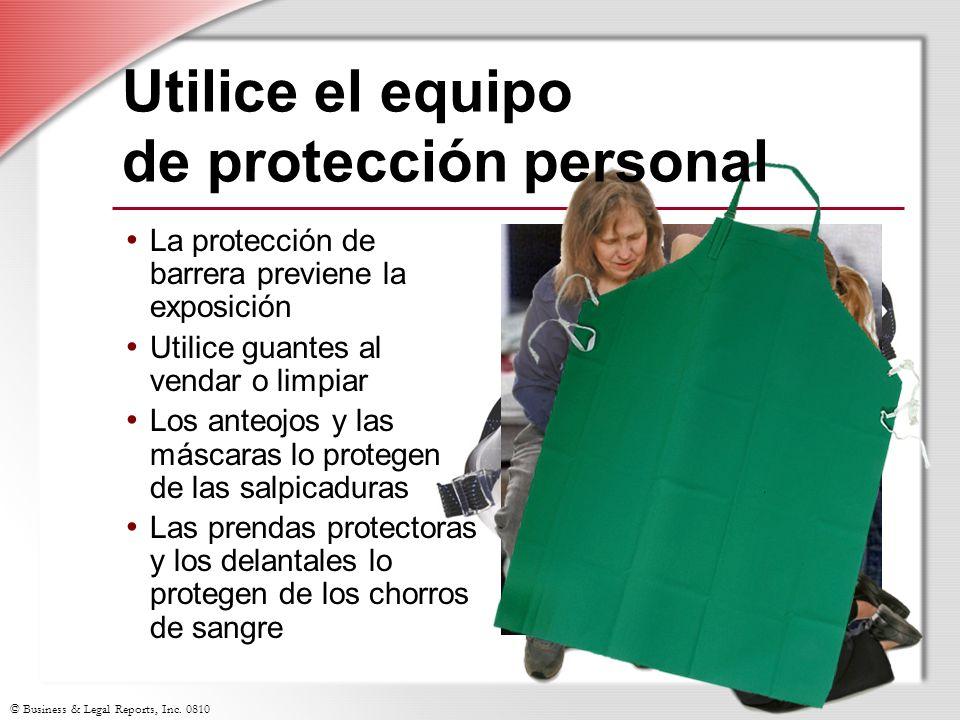 Utilice el equipo de protección personal