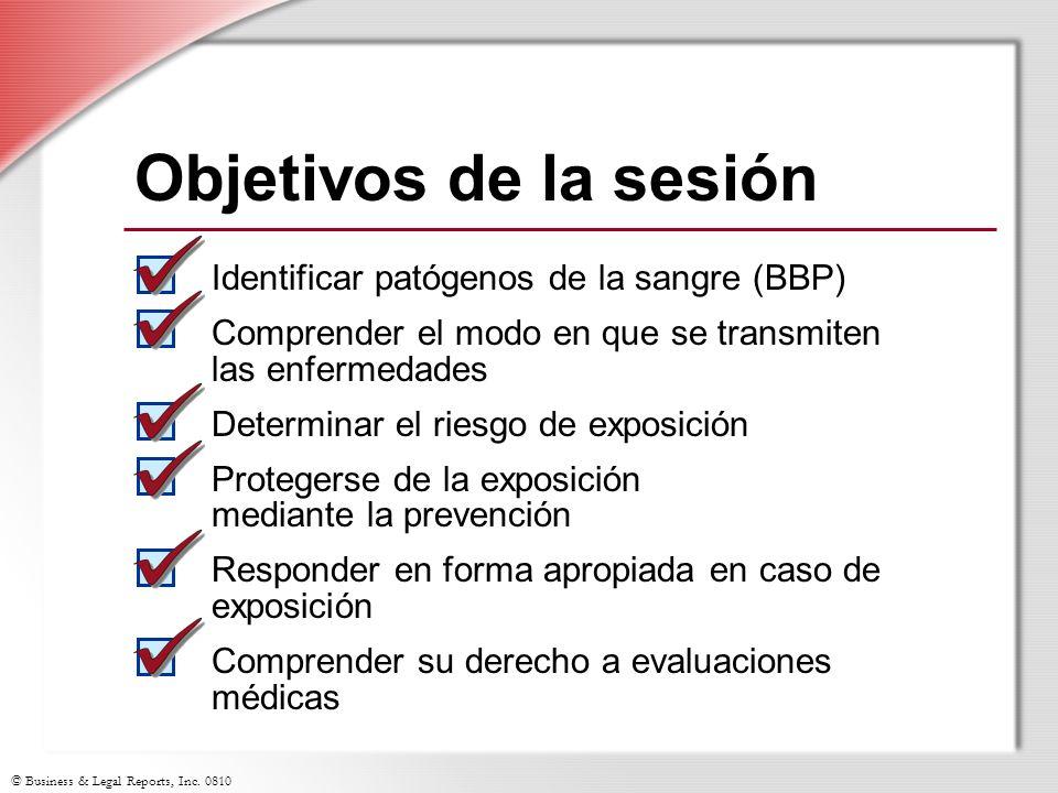 Objetivos de la sesión Identificar patógenos de la sangre (BBP)
