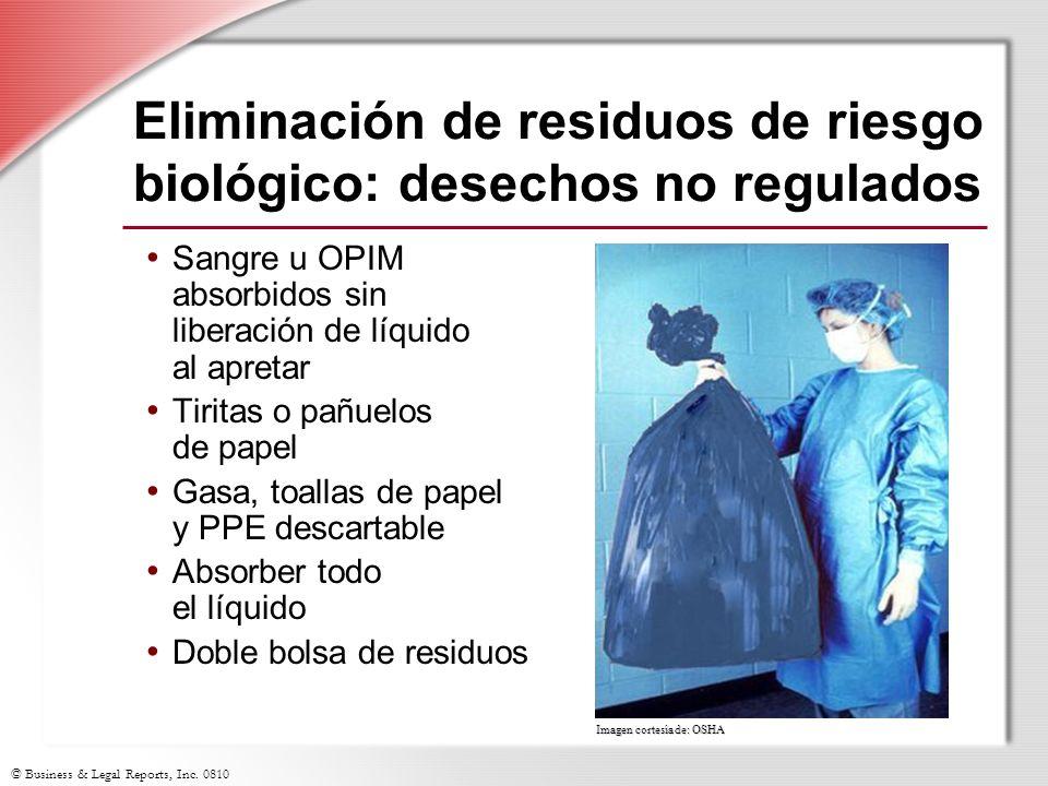 Eliminación de residuos de riesgo biológico: desechos no regulados