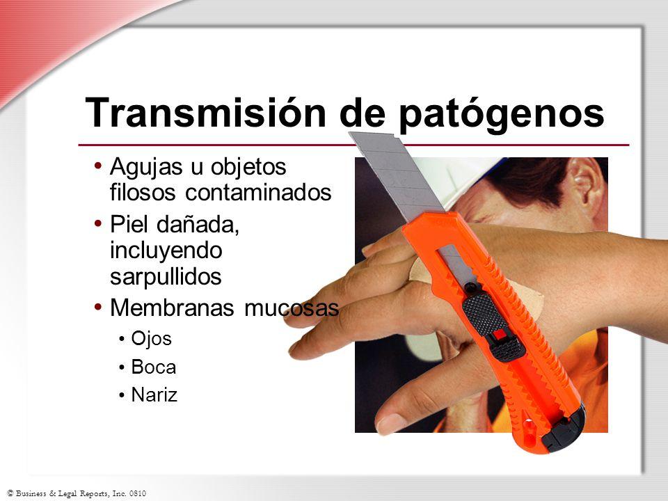 Transmisión de patógenos