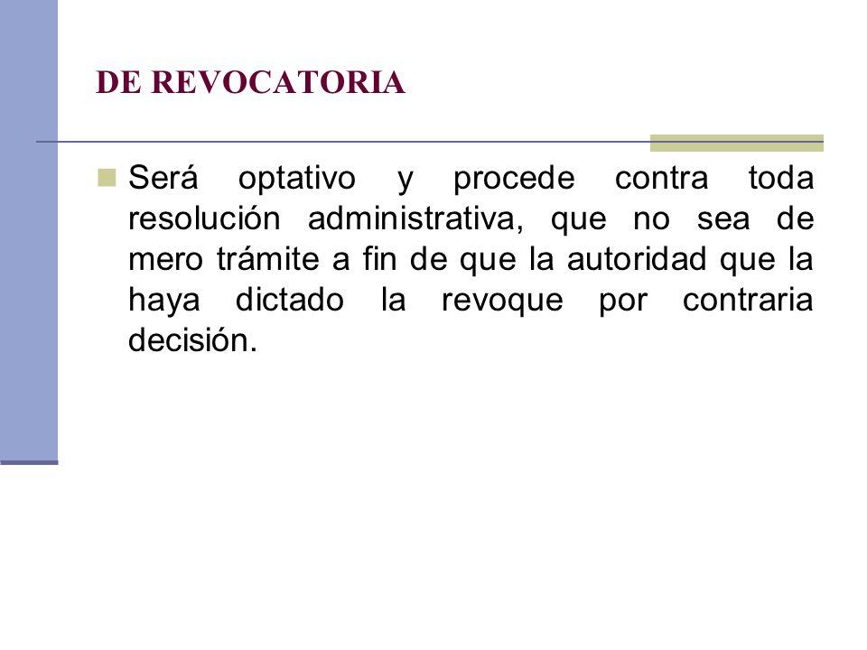 DE REVOCATORIA