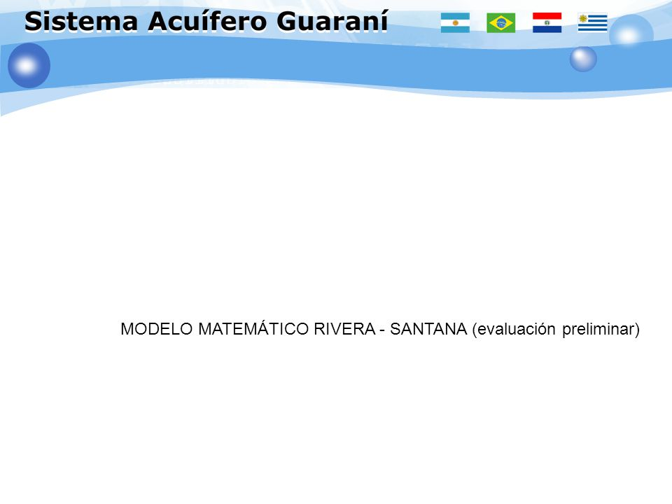 MODELO MATEMÁTICO RIVERA - SANTANA