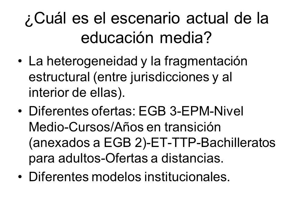 ¿Cuál es el escenario actual de la educación media