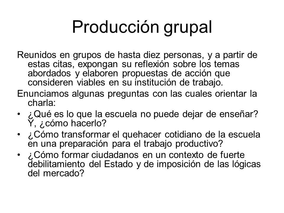 Producción grupal